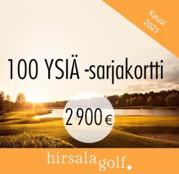 100 YSIÄ sarjakortti