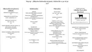 Ravintola Hirsala Verde menu